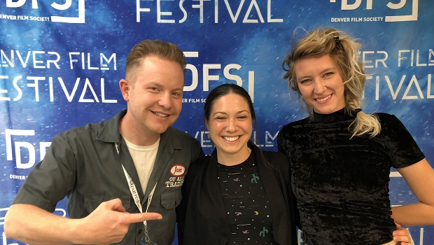 Alessandra Dobrin Khalsa (center) and Morgan Capps are the editor and director (respectively) of the Meow Wolf Origin Story documentary playing at Denver Film Festival 41. They're the guests on Ep. 196 of the Jon of All Trades Podcast, debuting November 6, 2018.