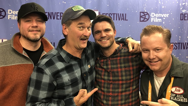 Nate Bakke (left), Pete Gardner and Dan Cummings are from the movie Man Camp, and they're the guests on Ep. 232 of the Jon of All Trades Podcast debuting November 8, 2019 from Denver Film Festival 42.